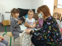 Spotkanie z Blusią dzieci z grupy Żabek (Turka, 2020)