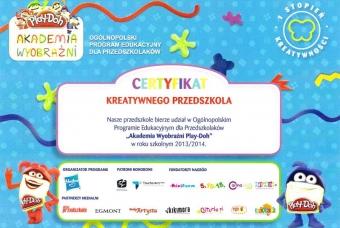 certyfikat-kreatywnego-przedszkolaka-1stopien_2013_14