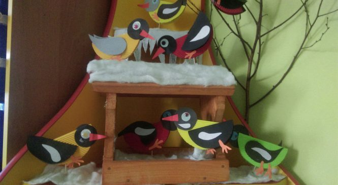 """Kolorowe zimowe ptaki w grupie """"Żabki"""""""