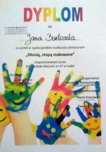 Konkurs Dłonią stopą malowane