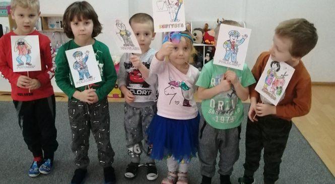 """Projekt """"Poznajemy zawody"""" – grupa """"Żabki"""""""