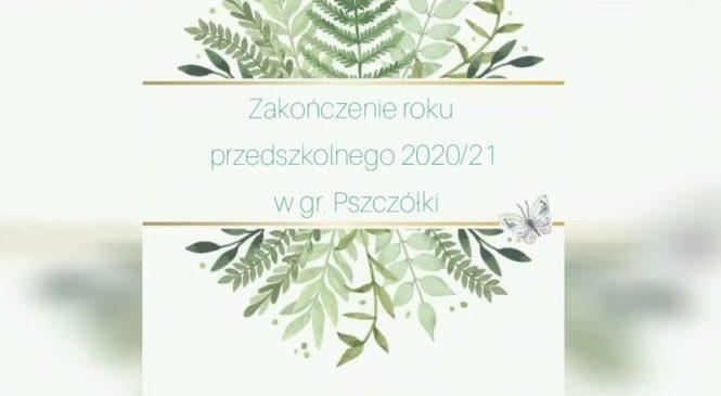 Zakończenie roku przedszkolnego 2020/21 w gr. Pszczółki 🐝🐝🐝