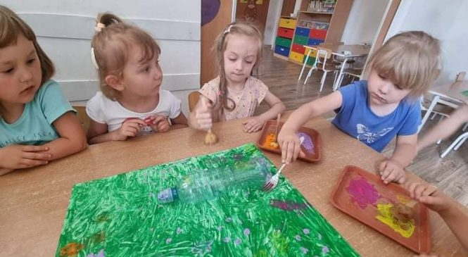 """Malujemy """"kolorową łąkę"""""""